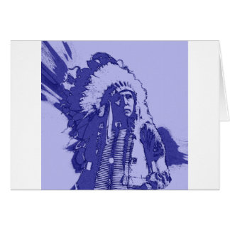 Gebürtiger amerikanischer Ureinwohner dunkelblau Karte