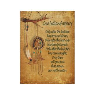 Gebürtiger amerikanischer Ureinwohner Holzposter