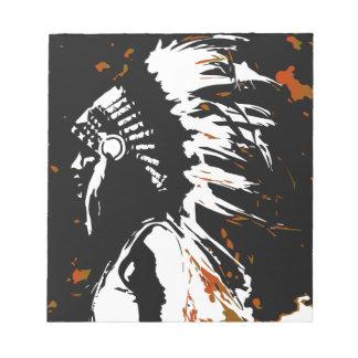 Gebürtiger amerikanischer Ureinwohner Notizblock