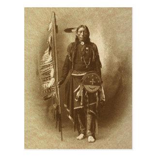 Gebürtiger amerikanischer Ureinwohner Postkarte
