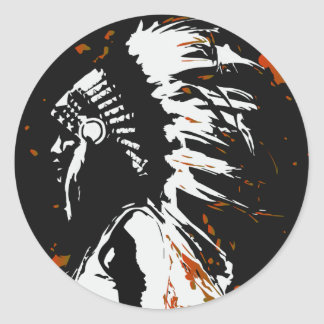 Gebürtiger amerikanischer Ureinwohner Runder Aufkleber