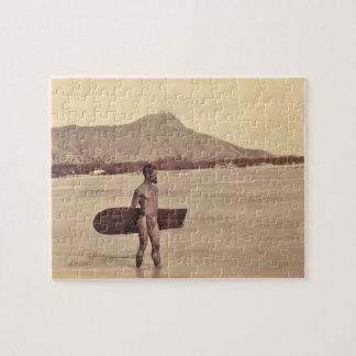 Gebürtiger hawaiischer Surfer, C. 1890 Puzzle