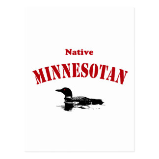 Gebürtiger Minnesotan Postkarte