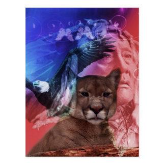 Gebürtiger Ureinwohner-Leiter Postkarten