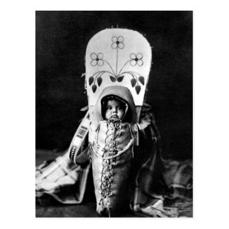 Gebürtiger Ureinwohner-Vintages Porträt Postkarten