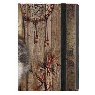 Gebürtiger Ureinwohnerwolf des Westerntraumfängers iPad Mini Hülle