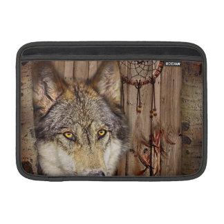 Gebürtiger Ureinwohnerwolf des Westerntraumfängers MacBook Air Sleeve