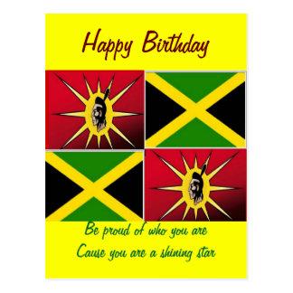 Gebürtiges amerikanisch-Jamaikanisches Postkarte