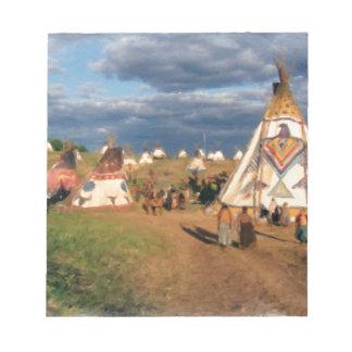 Gebürtiges Ureinwohner-Dorf Notizblock
