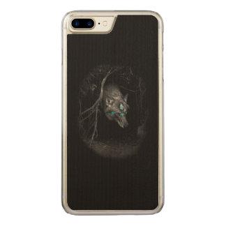Gebürtiges Wolf-Pfeil-Kopf-Telefon Carved iPhone 8 Plus/7 Plus Hülle
