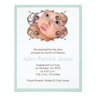 Geburts-Mitteilung 10,8 X 14 Cm Einladungskarte