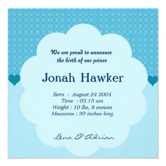 Geburts-Mitteilung Einladungskarten