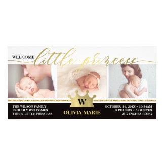 Geburts-Mitteilung, kleine Prinzessin, Karte