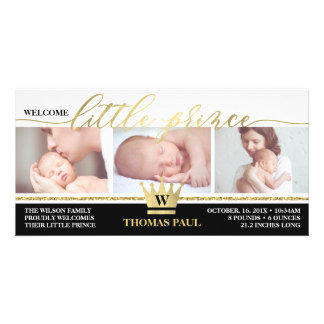 Geburts-Mitteilung, kleiner Prinz, Karte