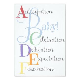 Geburts-Mitteilung oder Babyparty laden ein 8,9 X 12,7 Cm Einladungskarte