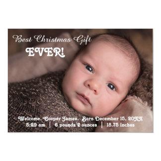 Geburts-Mitteilungs-bestes Weihnachtsgeschenk Karte