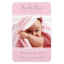 Geburts-Mitteilungs-Foto-Magneten