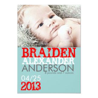Geburts-Mitteilungs-Karte 12,7 X 17,8 Cm Einladungskarte