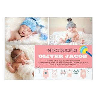 Geburts-Mitteilungs-Karten-Schablone 12,7 X 17,8 Cm Einladungskarte