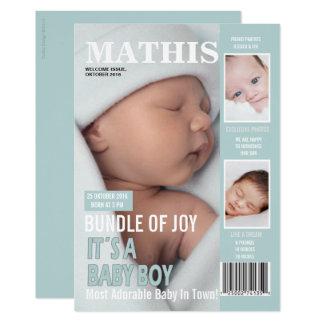 Geburts-Mitteilungs-Titelseiten-3 Fotos 12,7 X 17,8 Cm Einladungskarte