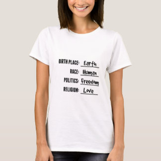 GEBURTS-PLATZ-ERDShirt (weißes T-Stück) T-Shirt
