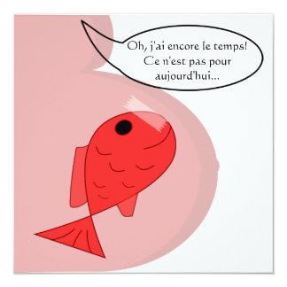 """Geburtsmitteilung """"Fisch vom April"""" weiß"""