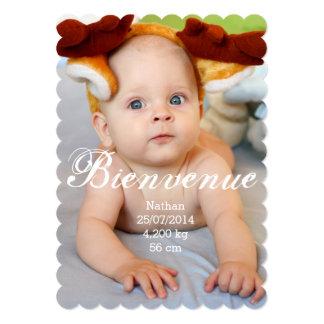 Geburtsmitteilung Junge 12,7 X 17,8 Cm Einladungskarte