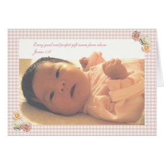 Geburtsmitteilung Grußkarte