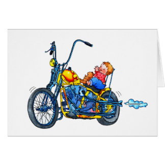 """Geburtsmitteilung """"kleiner Baby-Radfahrer-"""" Karte"""