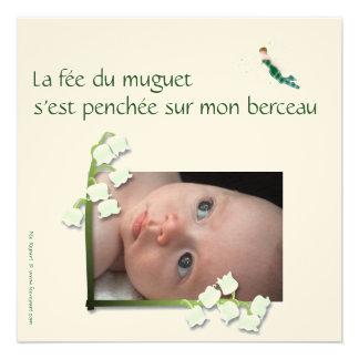 Geburtsmitteilung Maiglöckchen und feltfee Individuelle Ankündigskarten