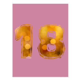 Geburtstag 18 postkarte