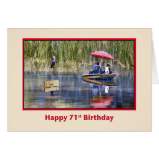 Geburtstag, 71., zwei Fischer in dem See Karte