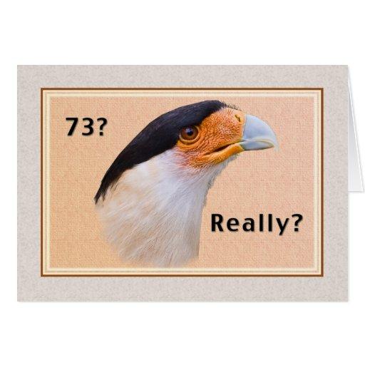 geburtstag 73 caracara vogel mit haube karten zazzle. Black Bedroom Furniture Sets. Home Design Ideas