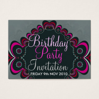 Geburtstag + Anlass-Party Einladungs-Karte Visitenkarte