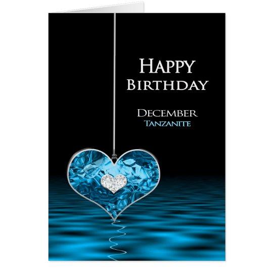 Geburtstag - Birthstone - Dezember - Tanzanite Grußkarte