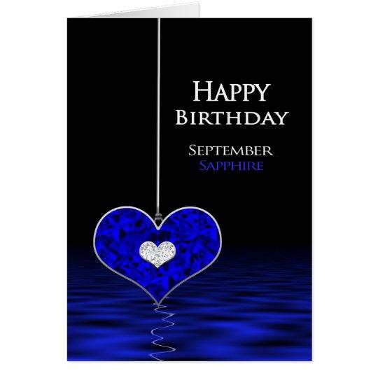 Geburtstag - Birthstone - September - Saphir Karte
