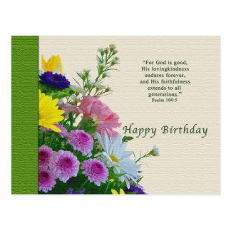 Geburtstag, Blumenstrauß, religiös, Postkarte