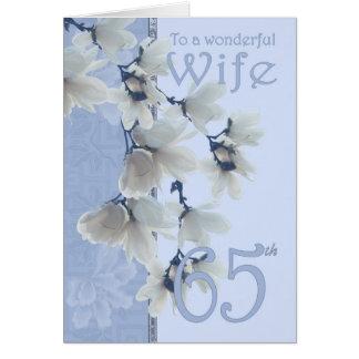 Geburtstag der Ehefrau-65 - Grußkarte