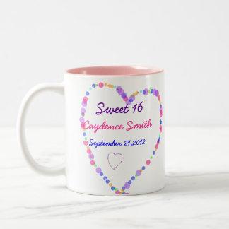 Geburtstag des Herz-Bonbon-16 Zweifarbige Tasse