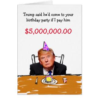Geburtstag des Trumpf-$5.000.000 Karte