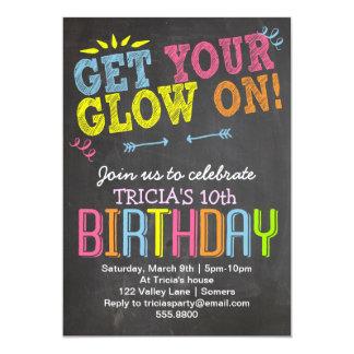 Geburtstag Einladung-Kreide + Neon, erhält Ihr 12,7 X 17,8 Cm Einladungskarte