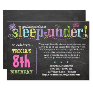 Geburtstag Einladung-SleepUNDER Party, Neon Karte