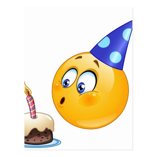 Geburtstag Emoji Postkarte Zazzle