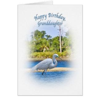Geburtstag, Enkelin, großer Reiher Karte