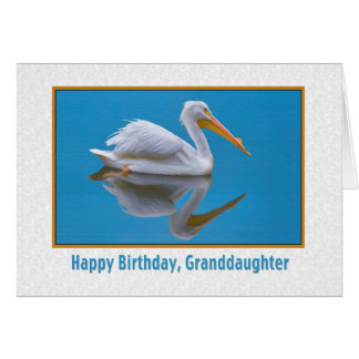 Geburtstag, Enkelin, weißer Pelikan Karte
