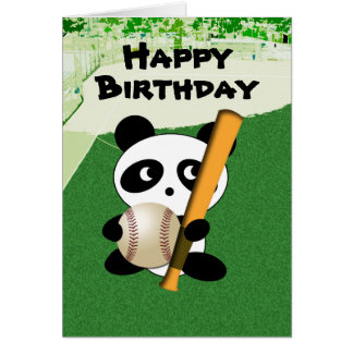 Geburtstag für Baseball - Fan Karte