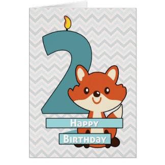 Geburtstag für ein Kind, das zwei Jahre alt dreht Karte