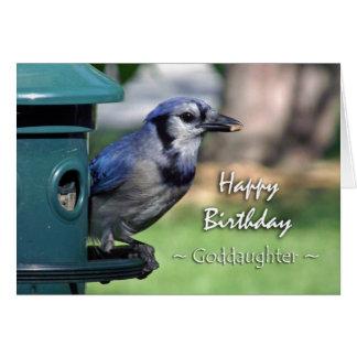 Geburtstag für Patenttochter, blaues Jay an der Karte
