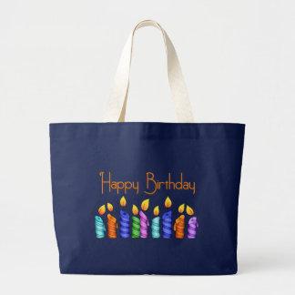 Geburtstag leuchtet Leinwand-Tasche durch Jumbo Stoffbeutel