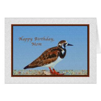 Geburtstag, Mamma, rötlicher Turnstone-Vogel Karte